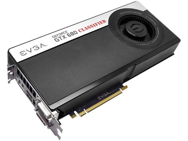 EVGA 04G-P4-3688-KR GeForce GTX 680 Classified 4GB 256-bit GDDR5 PCI Express 3.0 x16 HDCP Ready SLI Support Video Card