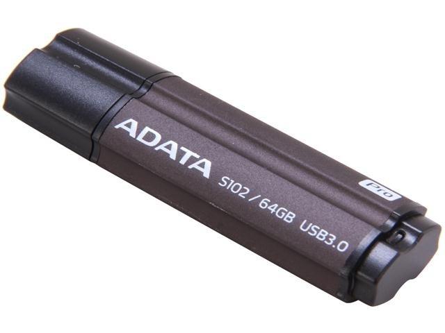 ADATA S102 Pro Advanced 64GB USB 3.0 Flash Drive Model AS102P-64G-RGY