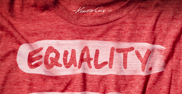 WEAR OUR LATEST LIMITED–EDITION T–SHIRT IN SUPPORT OF THE HUMAN RIGHTS CAMPAIGN (HRC). 100% of net profits will be donated to AWEARNESS, The Kenneth Cole Foundation to benefit the HRC in their effort to support marriage equality.