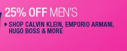 Shop Calvin Klein, Emporio Armani, Hugo Boss & More