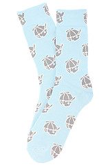 The Jack Face Socks in Dream Blue