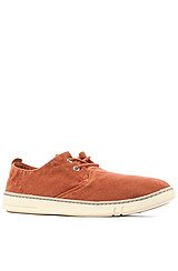 The Earthkeepers Hookset Handcrafted Fabric Oxford Sneaker in Burnt Orange Washed Canvas