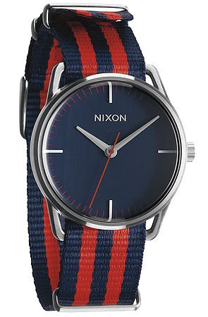 The Mellor Watch in Navy & Red Nylon