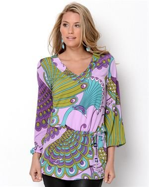 Tata Jolie Fanny Print Tunic- Made in USA