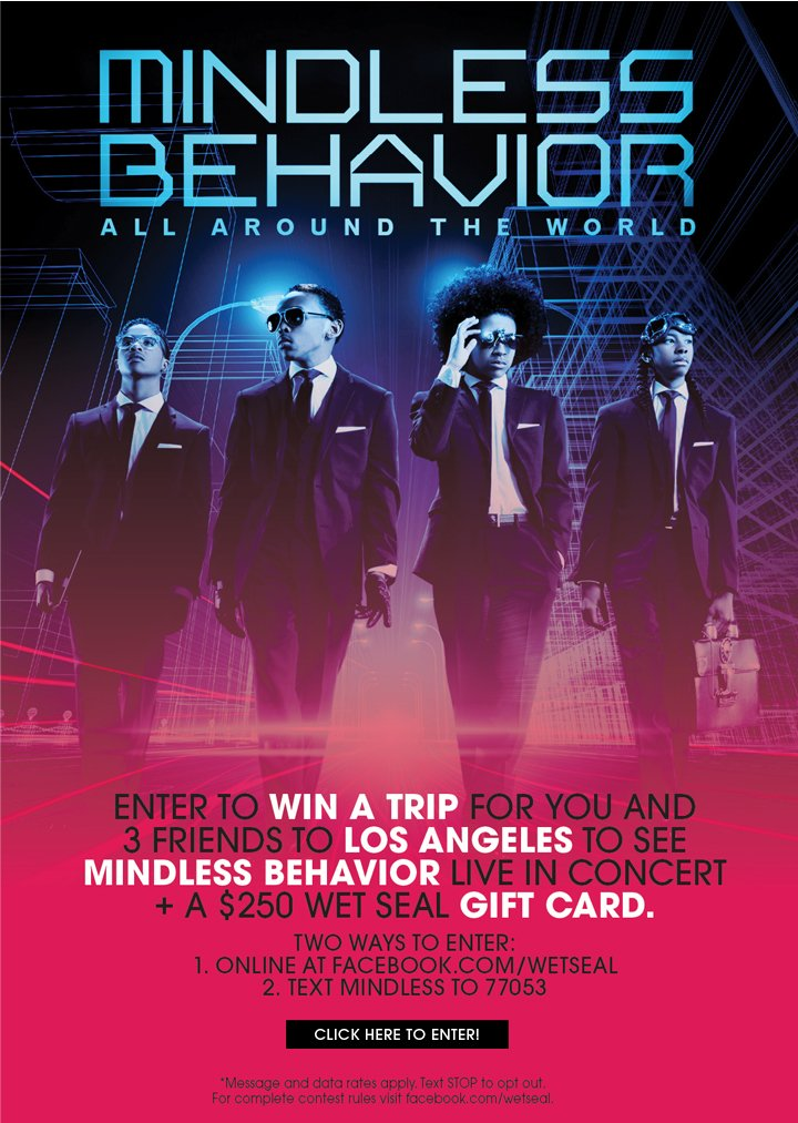 Enter To Win a Chance To See Mindless Behavior