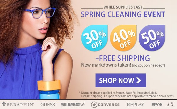 NEW: Clearance - Up to 50% Off + Free Shipping!