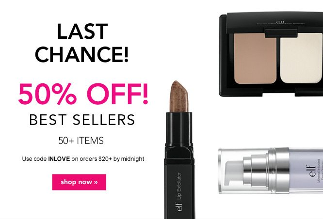 50% OFF Best Sellers. Code: INLOVE - Shop Now