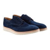 Washed-Navy Fin Brogues