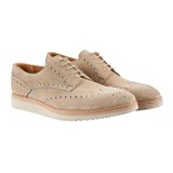 Washed-Taupe Fin Brogues