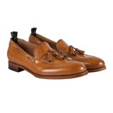 Washed-Tan Graham Loafers