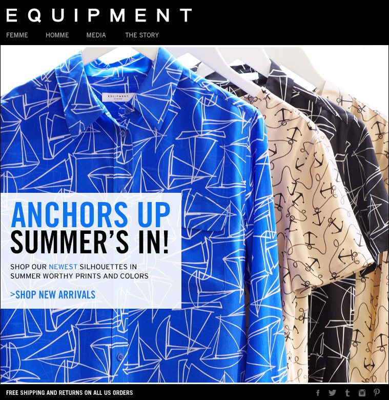 ANCHORS UP SUMMER'S IN! SHOP OUR NEWEST SILHOUETTES IN SUMMER WORTHY PRINTS AND COLORS >SHOP NEW ARRIVALS