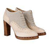 Washed-Stone Dunst Heeled Brogues
