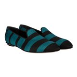 Washed-Teal Stripe Baldwin Loafers