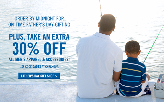 Take 30% off all Men's apparel and accessories! Shop now.