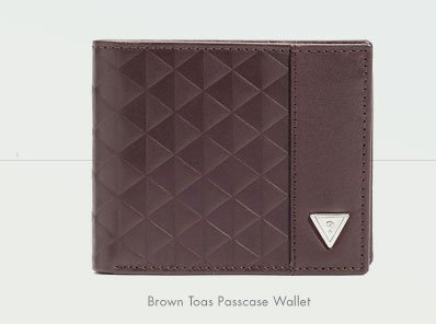 BROWN TOAS PASSCASE WALLET