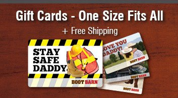 Gift Cards - One Size Fits All + Free shipping