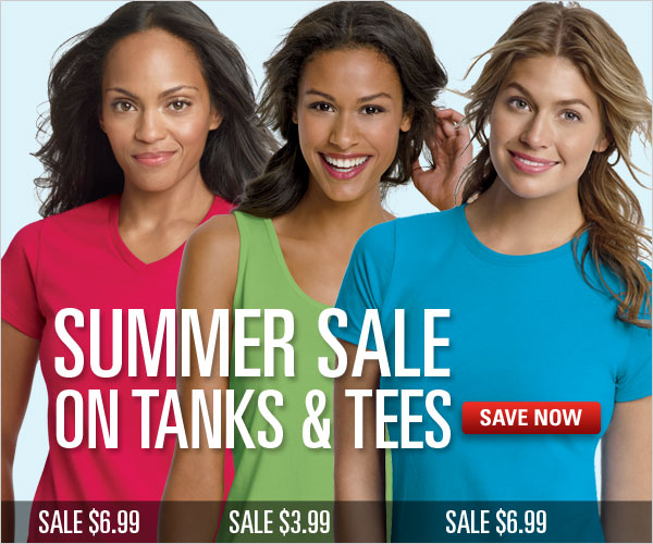 Summer Sale on Tanks & Tees