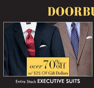 Executive Suits - Over 70% Off*