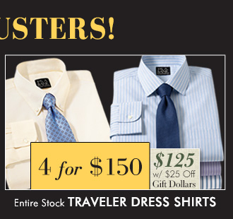 Traveler Suits - 4 for $150 USD