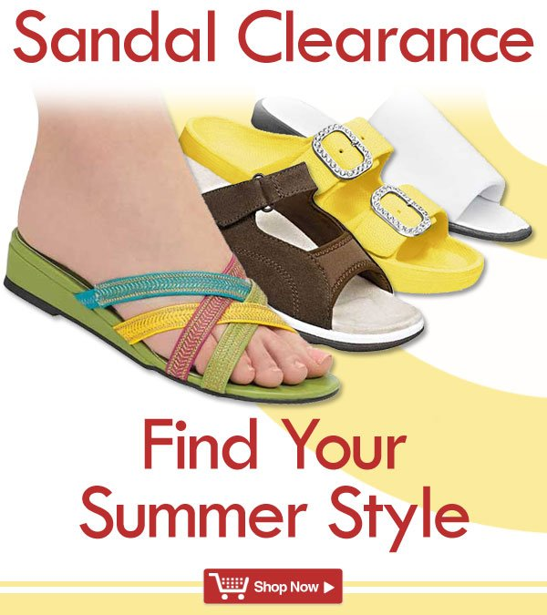 Sandal Clearance! Find Your Style! Shop Now >