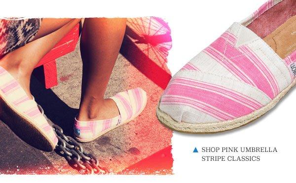 Shop Pink Stripe Umbrella Classics
