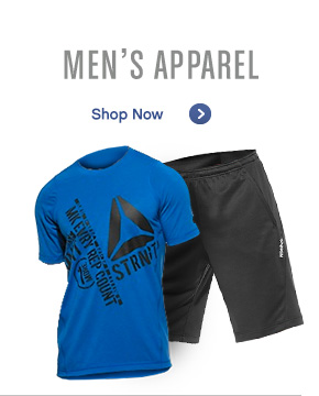 Men's Apparel. Shop Now »