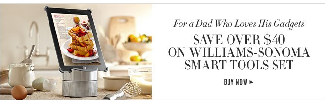 For a Dad Who Loves His Gadgets - SAVE  OVER $40 ON WILLIAMS-SONOMA SMART TOOLS SET - BUY NOW