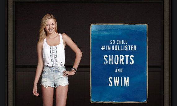 SO CHILL #INHOLLISTER SHORTS AND SWIM