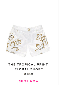 The Tropical Foil Print Short at $108. Shop Now.