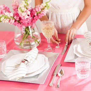 Table for Two: Romantic Serving Pieces & Linens
