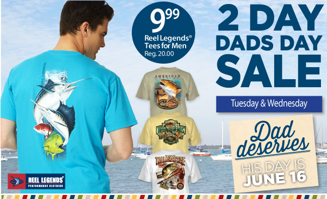 $9.99 Reel Legends Tees for Men