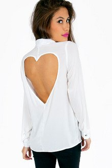 LUV ME BACK BUTTON UP SHIRT 35