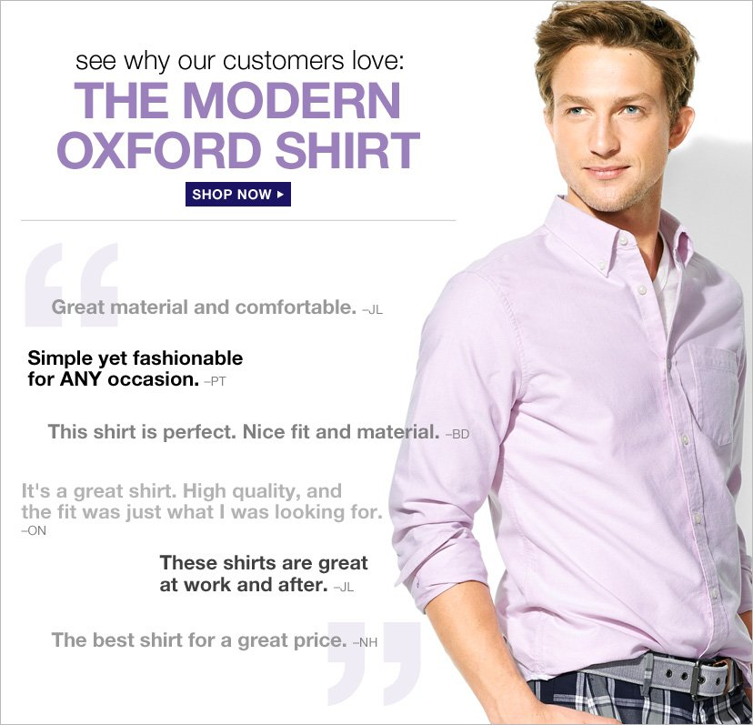 see why our customers love: | THE MODERN OXFORD SHIRT | SHOP NOW