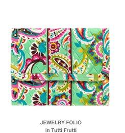 Jewelry Folio in Tutti Frutti