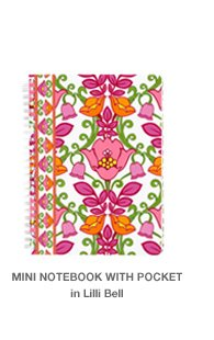Mini Notebook with Pocket in Lilli Bell