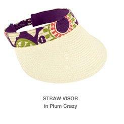 Straw Visor in Plum Crazy