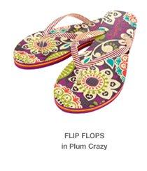 Flip Flops in Plum Crazy