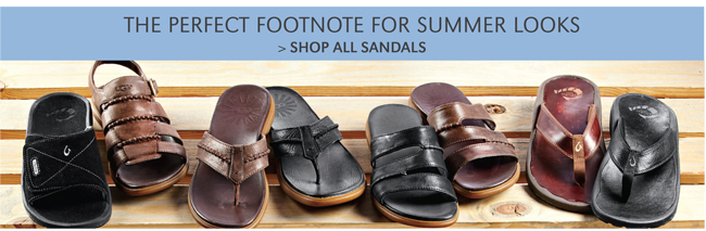 THE PERFECT FOOTNOTE FOR SUMMER LOOKS   SHOP ALL SANDALS