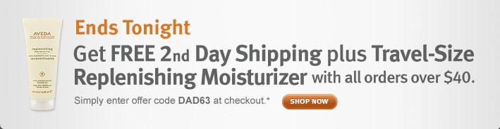 two days only. get free 2nd day shipping plus travel-size replenishing moisturizer with all orders over $40. shop now.