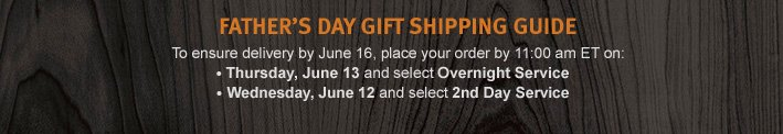 father's day gift shipping guide.