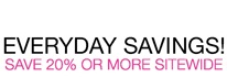 Everyday Savings: Save 20% or More Sitewide!