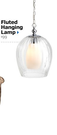 Fluted Hanging Lamp