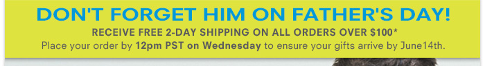 Don't Be Late! Receive Free 2-day Shipping on all orders over $100