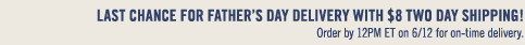 2-Day Shipping for On-Time Father's Day Delivery!