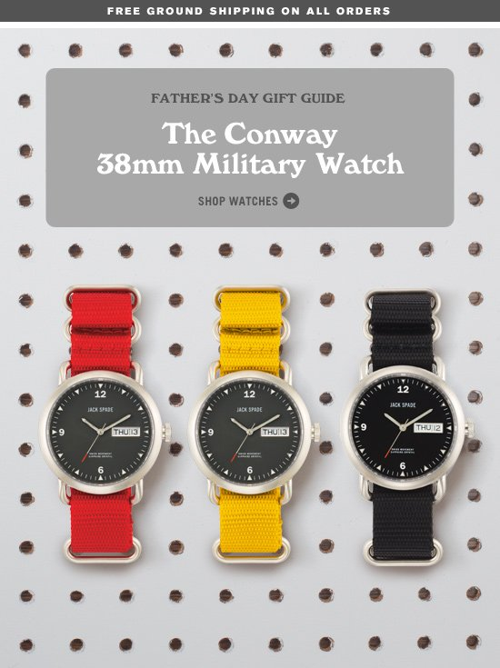 The Conway 38mm Military Watch. Shop Watches.