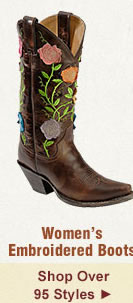 All Womens Embroidered Boots on Sale