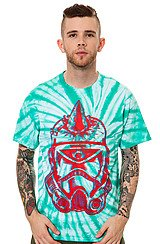 The Cyco Trooper Tee in Mint Tie Dye