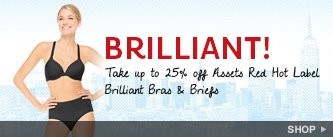 Brilliant! Take up to 25% off Assets Brilliant Bras & Briefs. Shop!