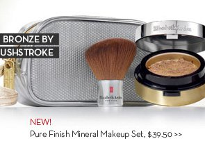 BRONZE BY BRUSH STROKE. NEW! Pure Finish Mineral Makeup Set, $39.50.