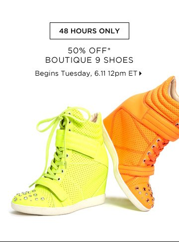 50% Off* Boutique 9 Shoes...Shop Now